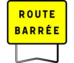 PANNEAU ROUTE BARREE