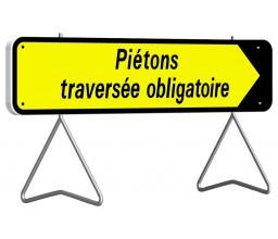 PANNEAU PIÉTONS TRAVERSÉE...