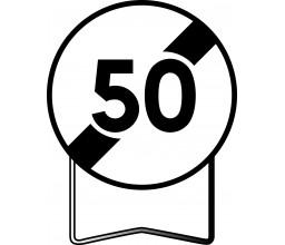 PANNEAU FIN LIMITATION 50KM/H