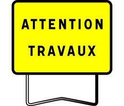 PANNEAU ATTENTION TRAVAUX